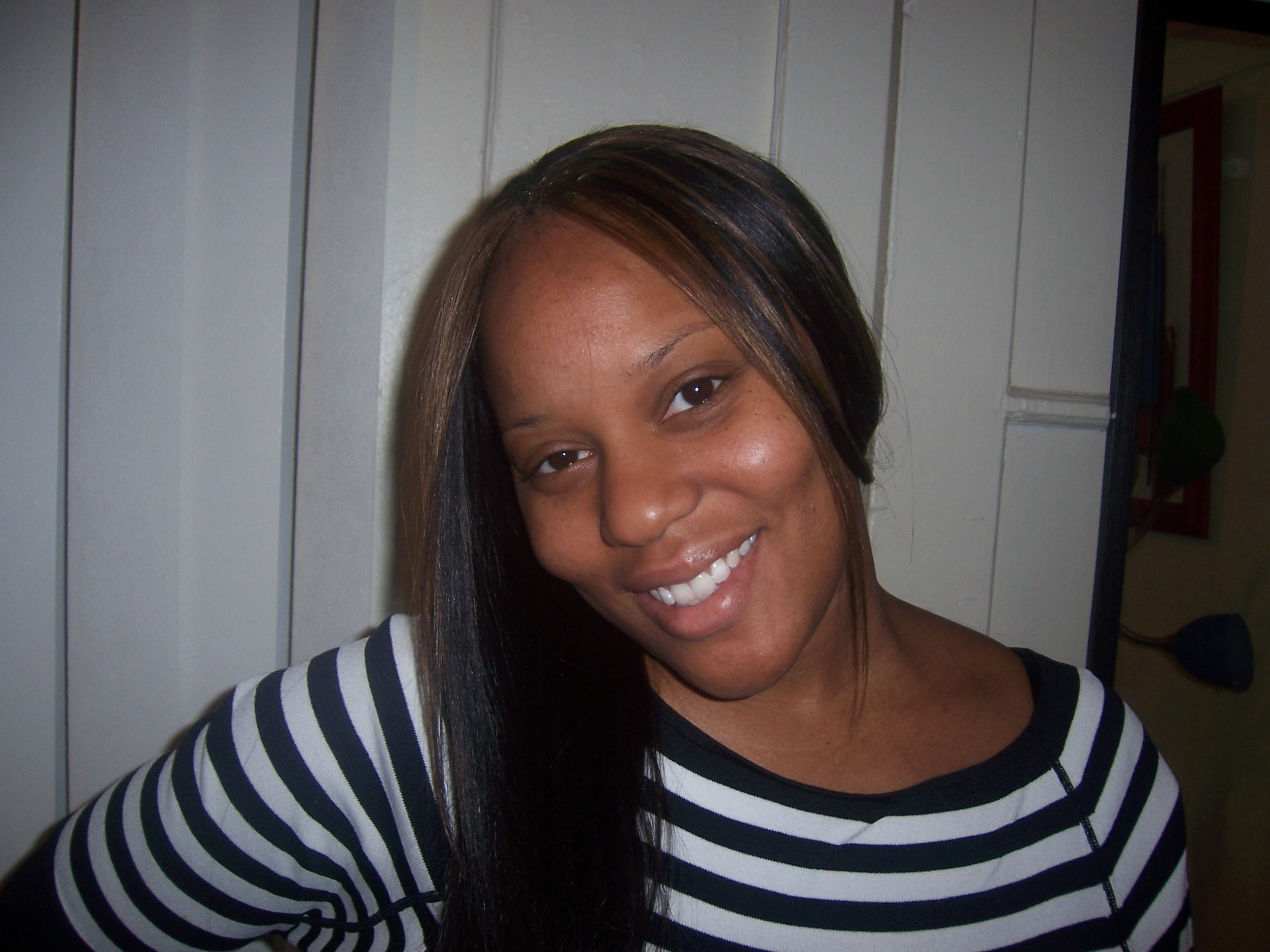 sew-in with crochet in the front